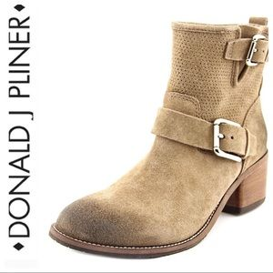 💕SALE💕 Donald J Pliner Taupe Suede Buckle Boots